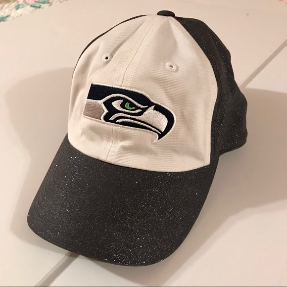 SEAHAWKS BASEBALL HAT WITH SHIMMER 1465eed5fd8